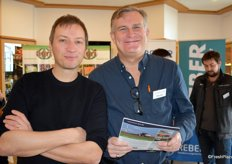 Andreas Kurtz (Bayer Crop Science Division; Monsanto Agrar Deutschland GmbH) und Milan Riha (Bayer Crop Science)