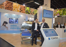 Tomra, sorting, greeding, peeling and analytical solutions to protect and enhance your brand. Bruno Gabriël und Christian Hofzommer.