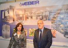 Weber Cooling, Sylvia van Uden und Hans Juursema. Vacuum Cooling solutions for Food & kitchen.
